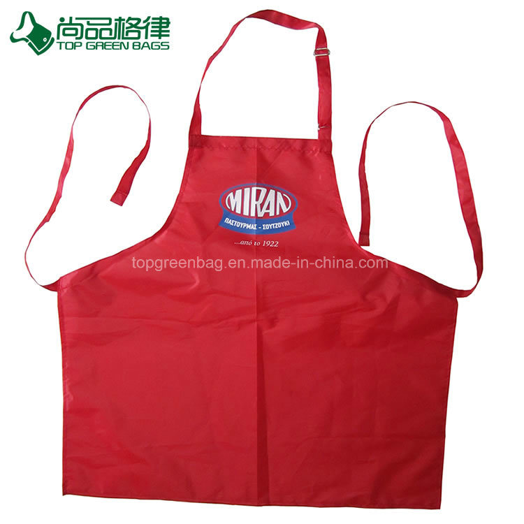 Wholesale High Quality Red Polyester Kitchen Cooking Apron