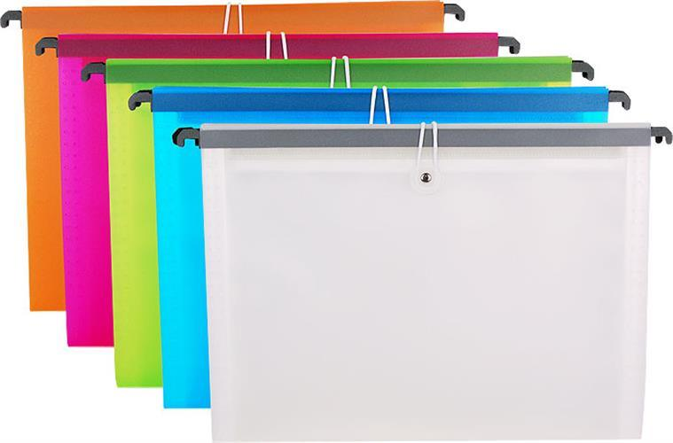 Colorful Vertical Rope Bag Expanding File with Hook