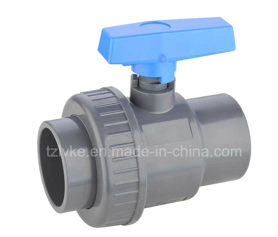 PVC Single Union Ball Valve for Agriculture with ISO9001 (DIN)