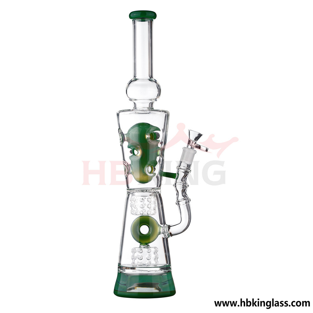 Bent Neck Barrel with Fagerge Egg Perc Smoking Glass Pipes