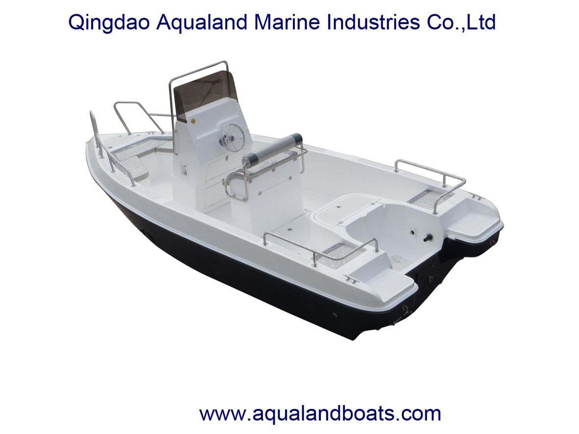 China Aqualand 21feet 6.3m Fiberglass Fishing Boat/Center Console Speed Boat