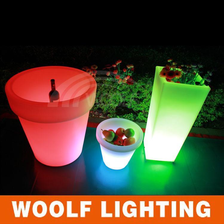 Color Glow LED Lighting Flower Pot Home Decor