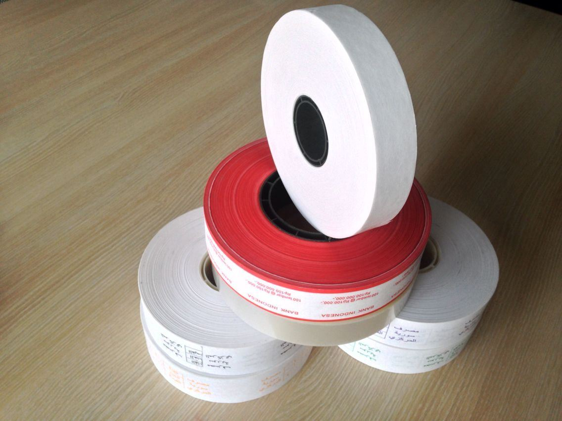 Cash Binding Paper Tape with Logo