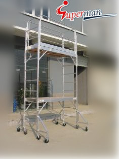 12ft. Aluminum Mobile Scaffolding with CE