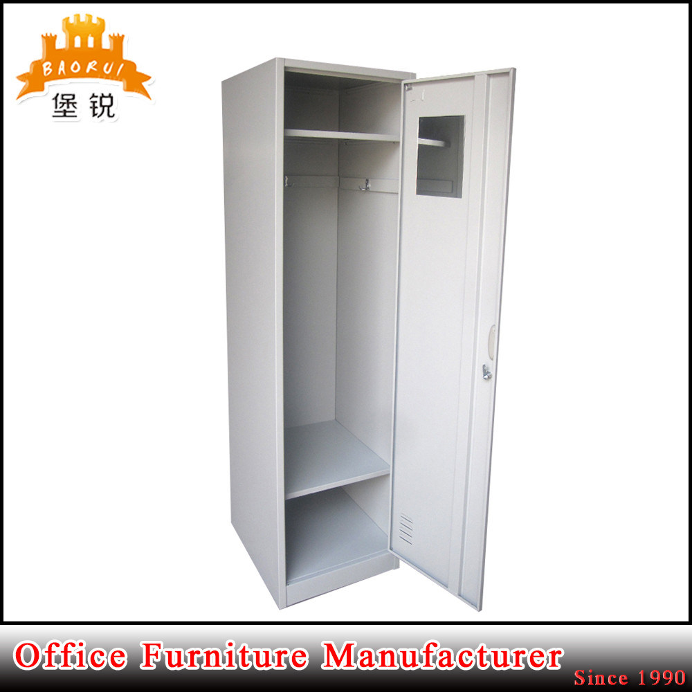 Office Furniture Steel Single One Door Storage Clothes Wardrobe Locker Cabinet