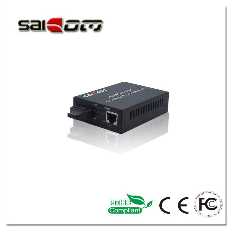 10/100m, Single-Mode Single Fiber, 1310/1550nmnm (FP/DFB), 60km, Fiber Media Converter