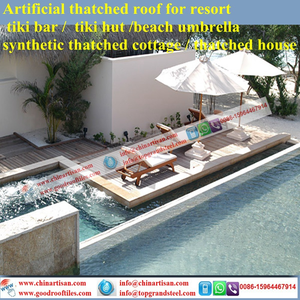 Luxury Villa Tropical/Island Style Synthetic Thatch Roof Tiles From Seychelles