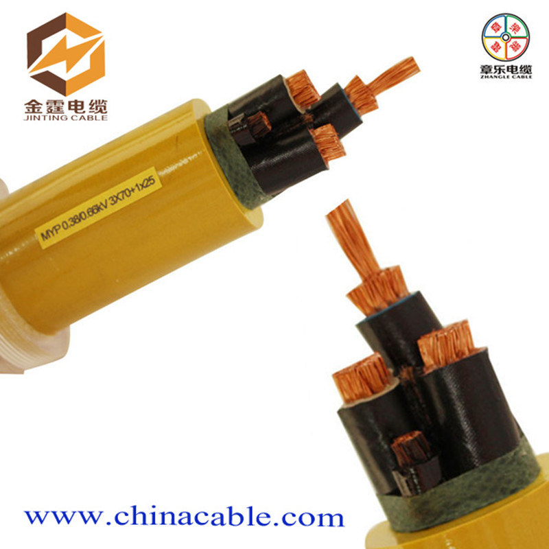Low Voltage Flexible Rubber Cable with Copper Conductor for Mining Machine