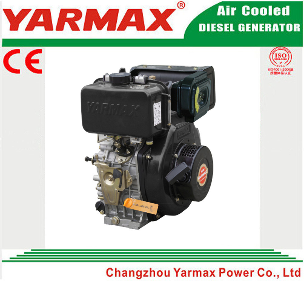 Yarmax Air Cooled Single Cylinder 186f 6HP 7HP Electric Start with Ce ISO Diesel Engine