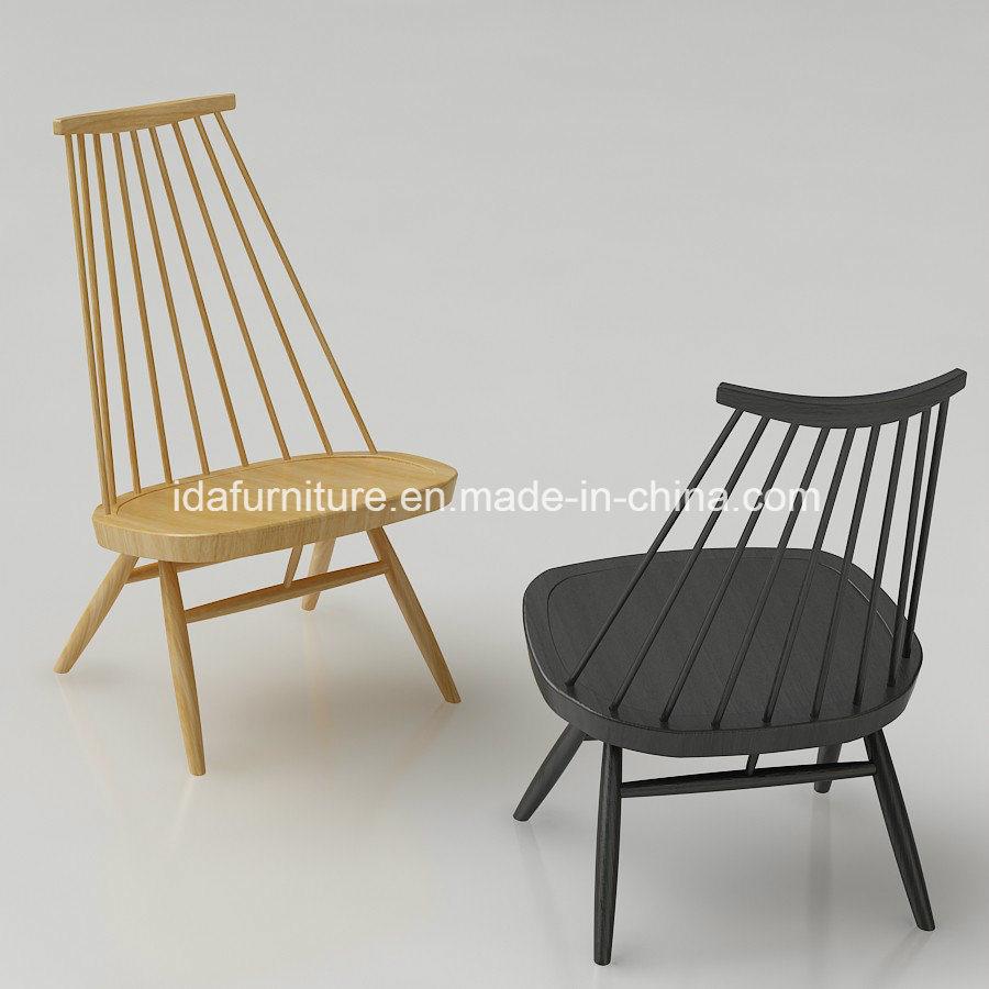 Modern Solid Ash Wood Artek Mademoiselle Lounge Chair