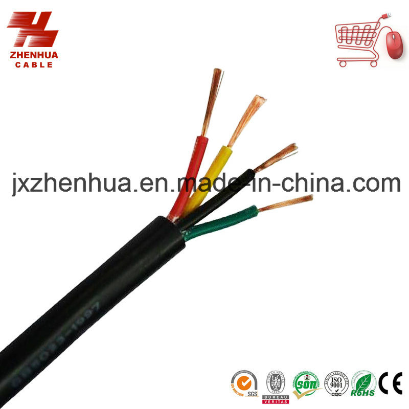 Black PVC 4 Core Power Cable 4X1.5mm2 4X 2.5mm2 4X4mm2
