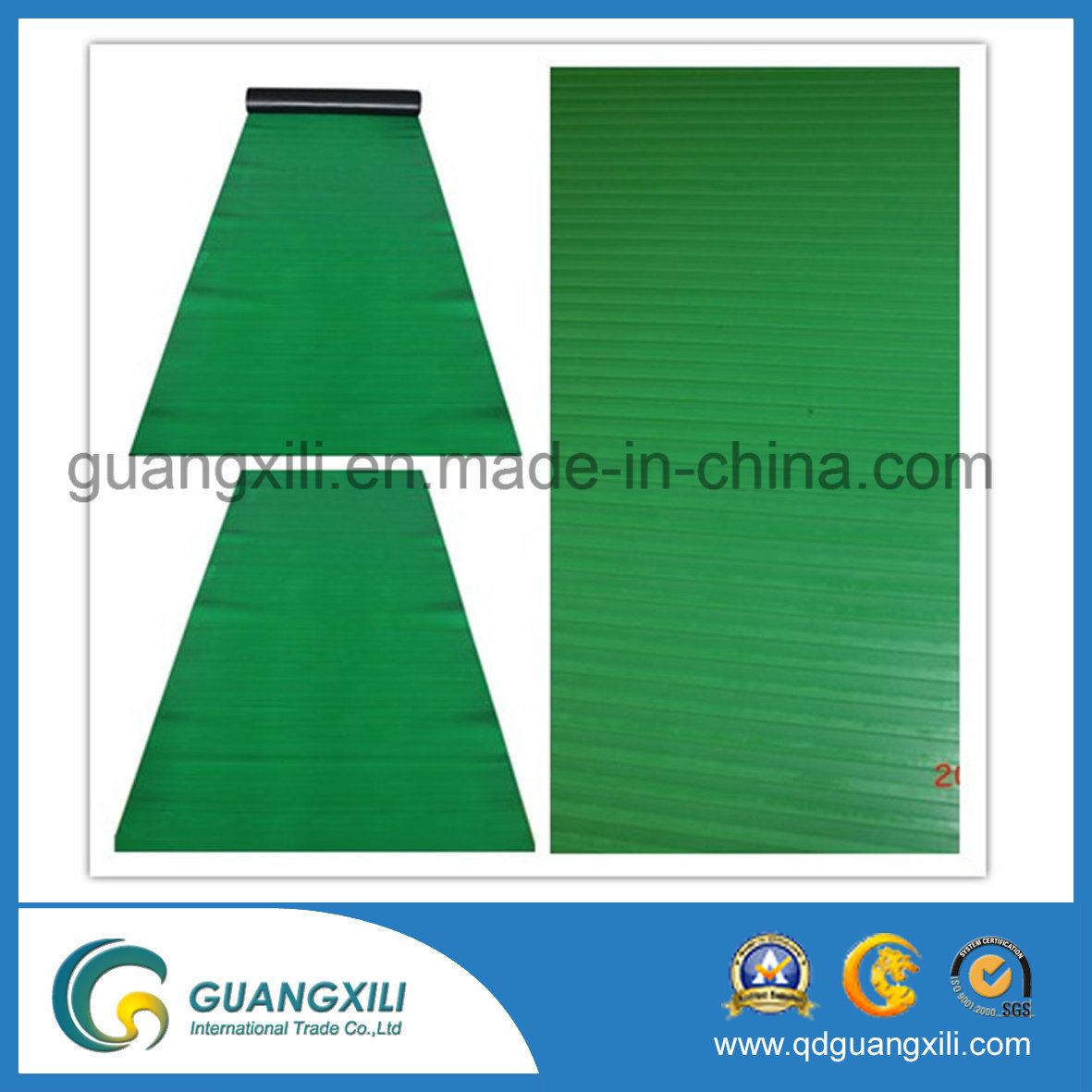 Anti Slip Fine Rib Rubber Green Rubber Sheet