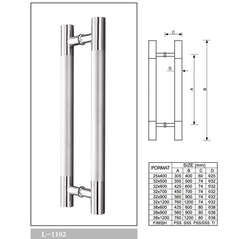 Stainless Shower Door Handle