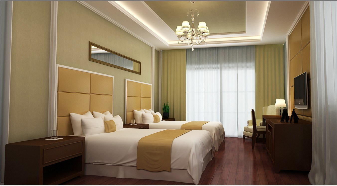 Double Bedroom Suite Morden Queen Size Furniture (GLN-036)
