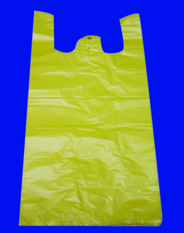HDPE Plastic White T-Shirt Shopping Bag