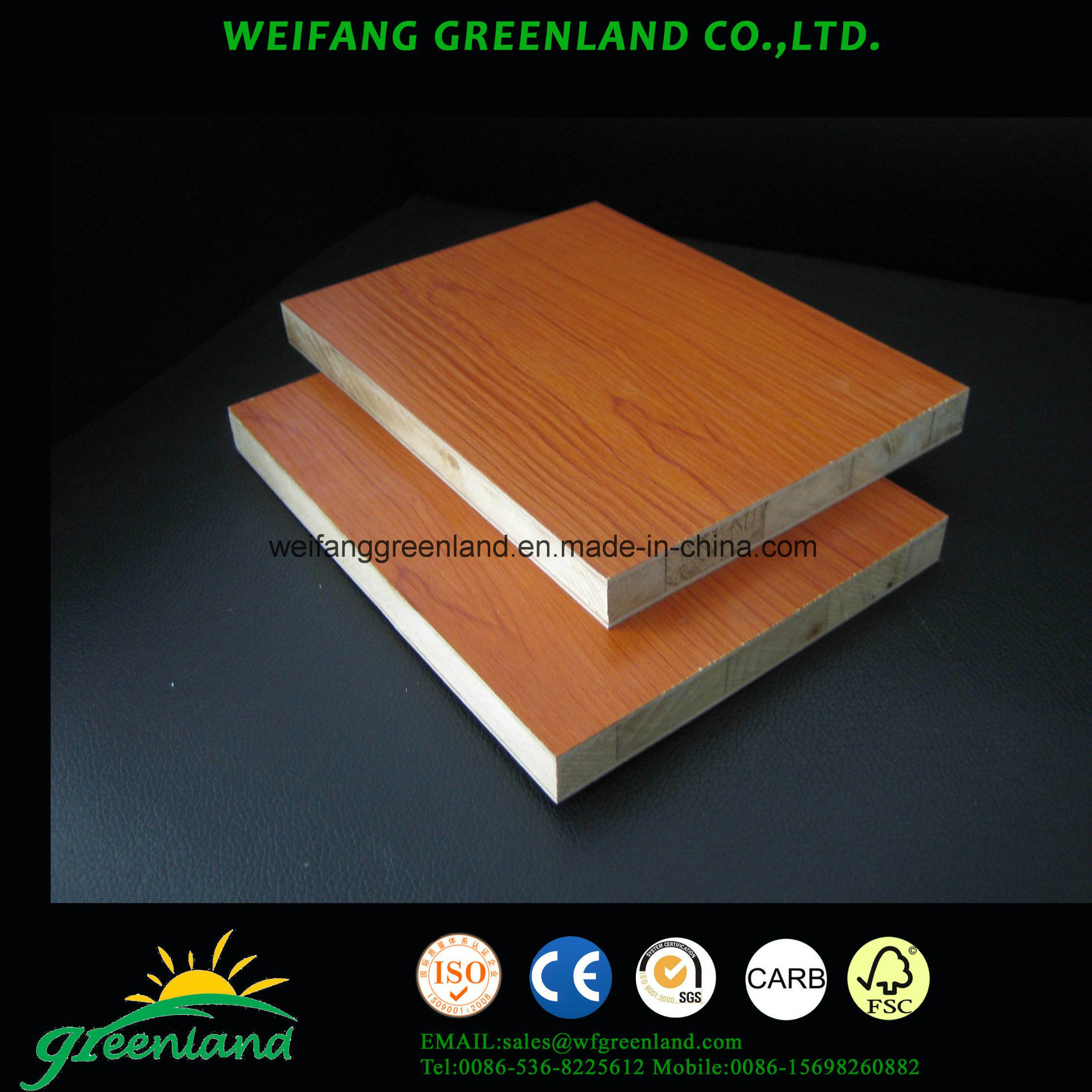 PVC Film Block Board 1220X2440mm Furniture Grade