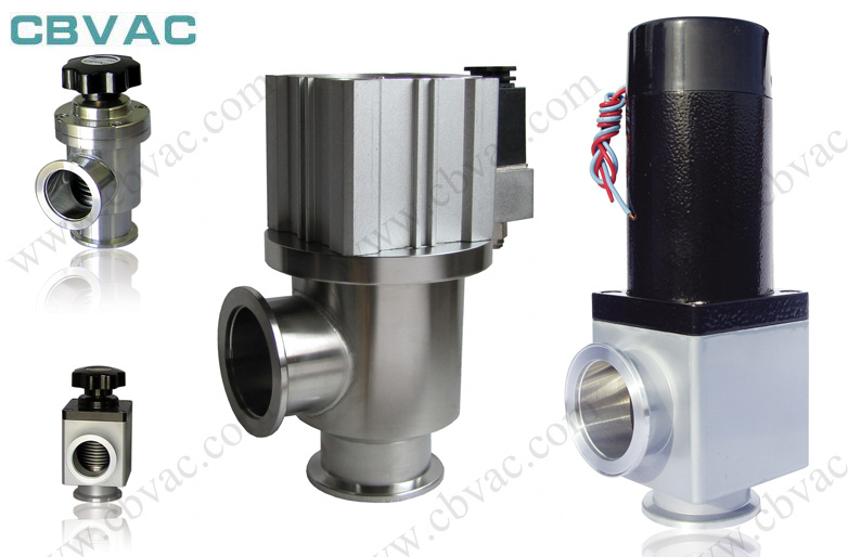 Kf/CF/Lf Stainless Steel High Vacuum Angle Valve