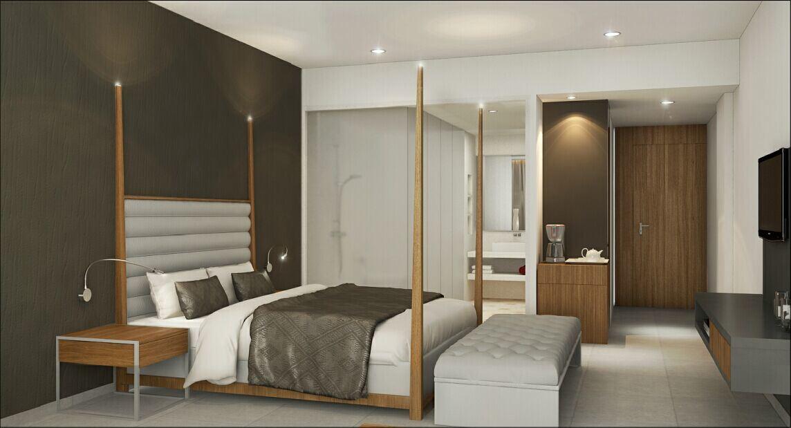 Stars Mordern Hotel Bedroom Wooden Furniture (GN-HBF-56)