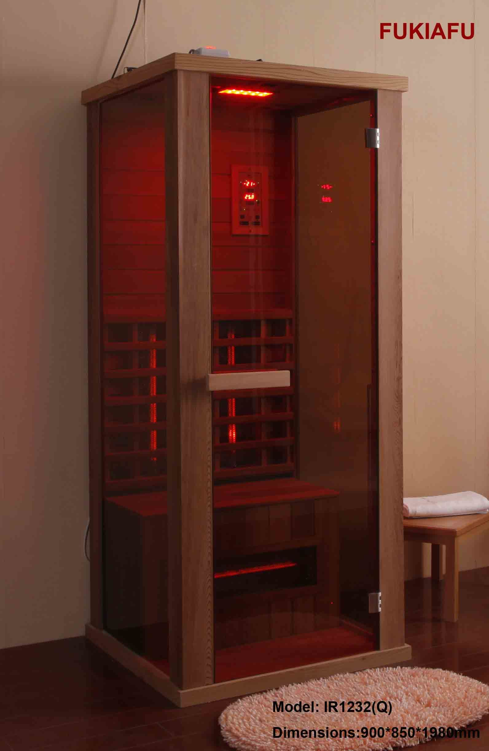 china infrared 1 person sauna room ir1232 q china infrared sauna cabins red cedar sauna cabins. Black Bedroom Furniture Sets. Home Design Ideas