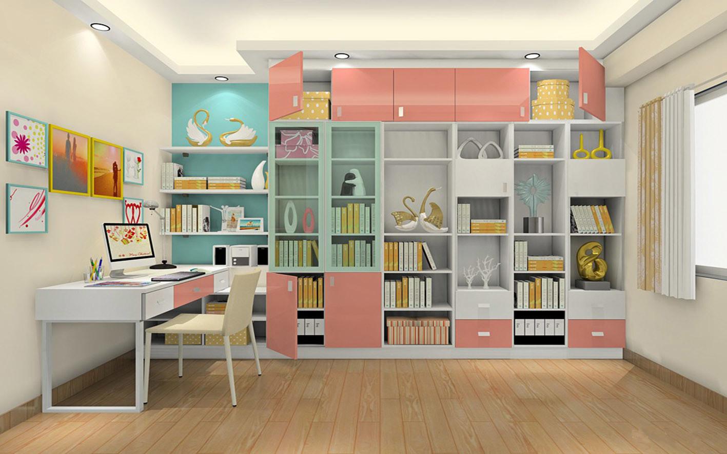 Italian Modern Study Room Wood Furniture (zj-004)