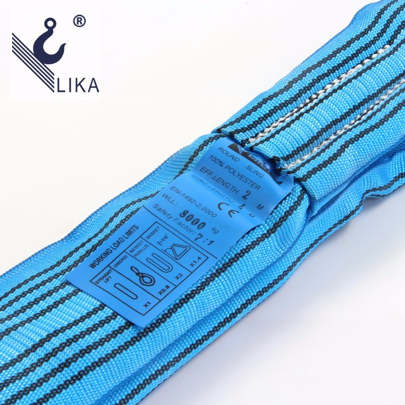 W. L. L. 8t Polyester Endless Round Webbing Sling