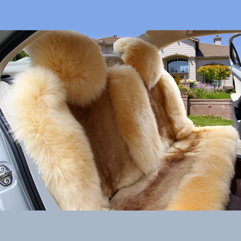 Pure Australian Sheepskin Car Seat Cover Long and Low Wool