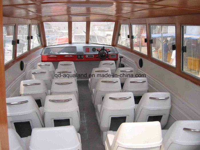28feet Fiberglass Water Taxi Passenger Ferry Boat with Cabin (Aqualand 860)