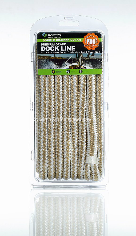 """3/8""""X 30′ N21c Dock Line Ropes for Dock/Anchor Applications/Nylon Rope/Doublebraid Rope"""