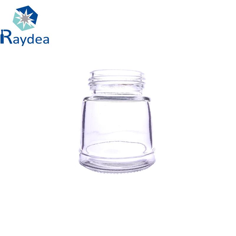 100ml Round Flint Glass Jar with Tin Cap
