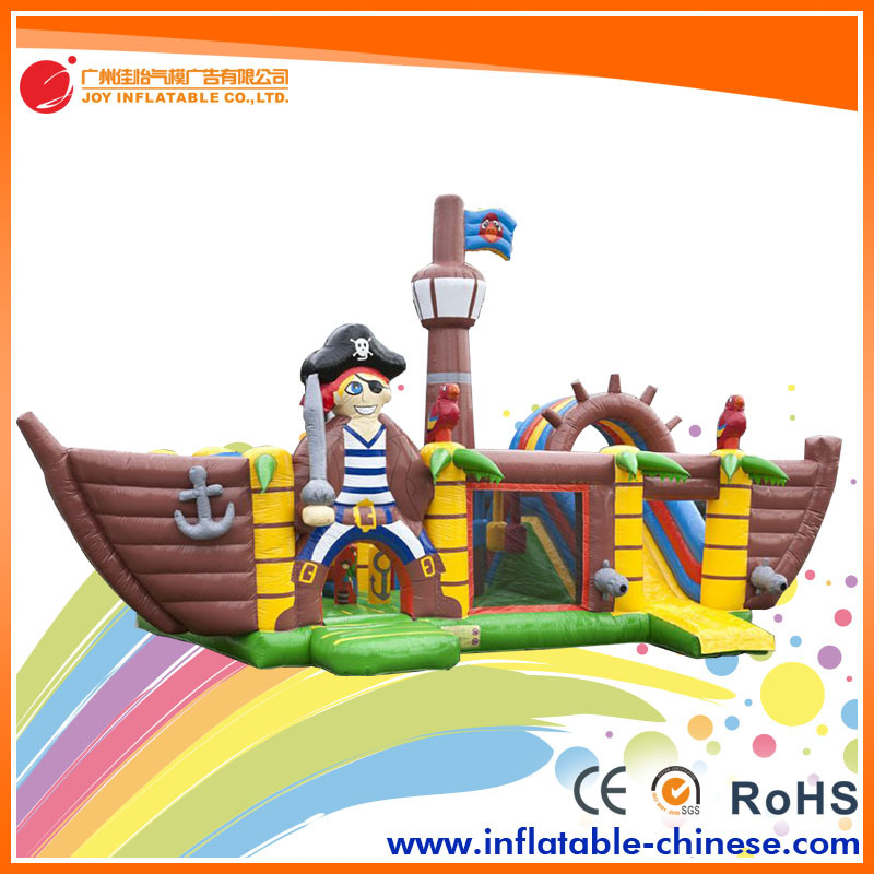 2017 Popular Mega Ballcanon Gaint Inflatable Pirate Boat (T6-611)