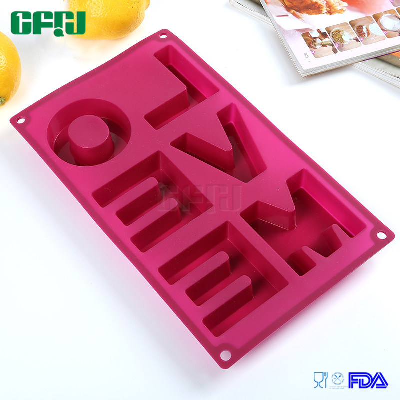DIY Soap/Chocolate/Fondant Cake/Embossed Printing Mould Silicone Molds Love Me