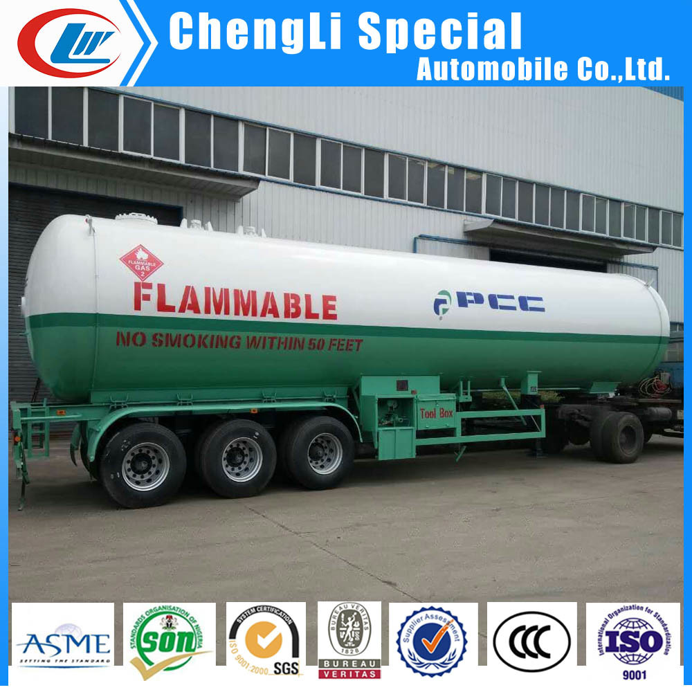 3 Axles 40.5cbm LPG Cooking Gas Tank LPG Semi Trailers 20tons for Low Price