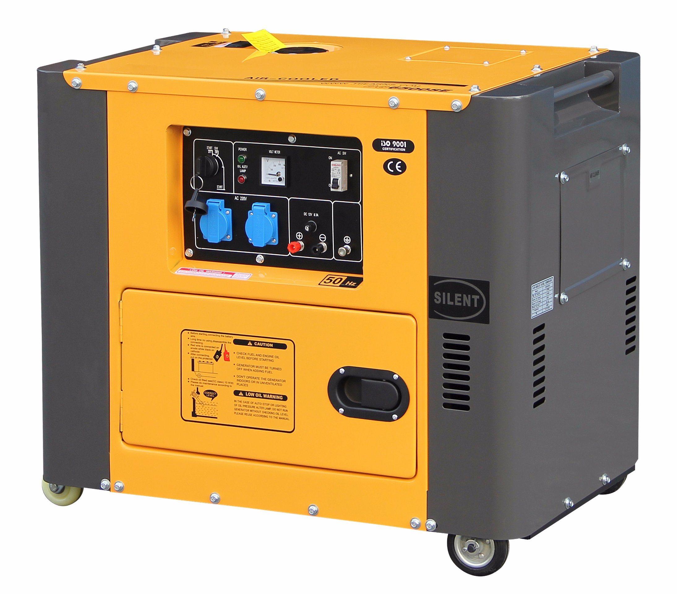 5kw Portable Air-Cooled Silent Diesel Generator