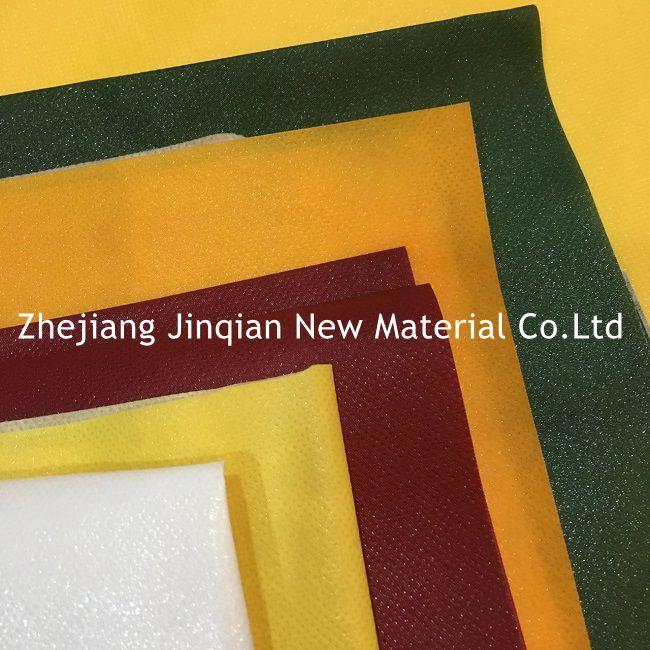 Industry Protective Coverall &Shopping Bags Material PE Lamination Nonwoven Fabric