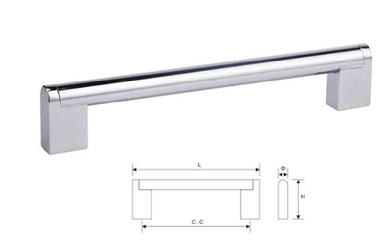 Stainless Steel Furniture Cabinet Hardware Door Pull Handle (U 006)
