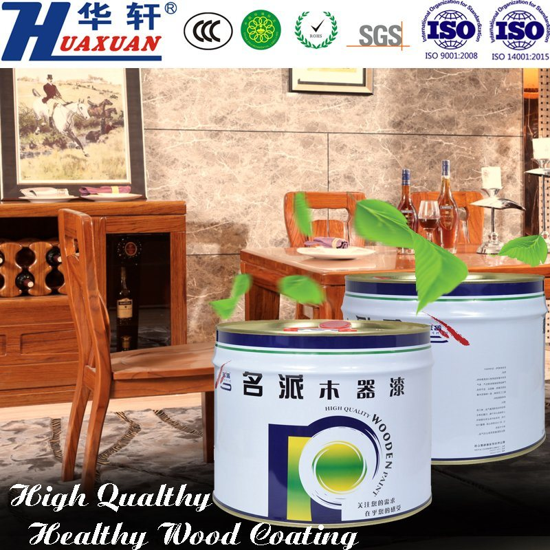 Huaxuan PU Yellowing Resistant High Fullness Matte White Top Coat Wooden Furniture Paint