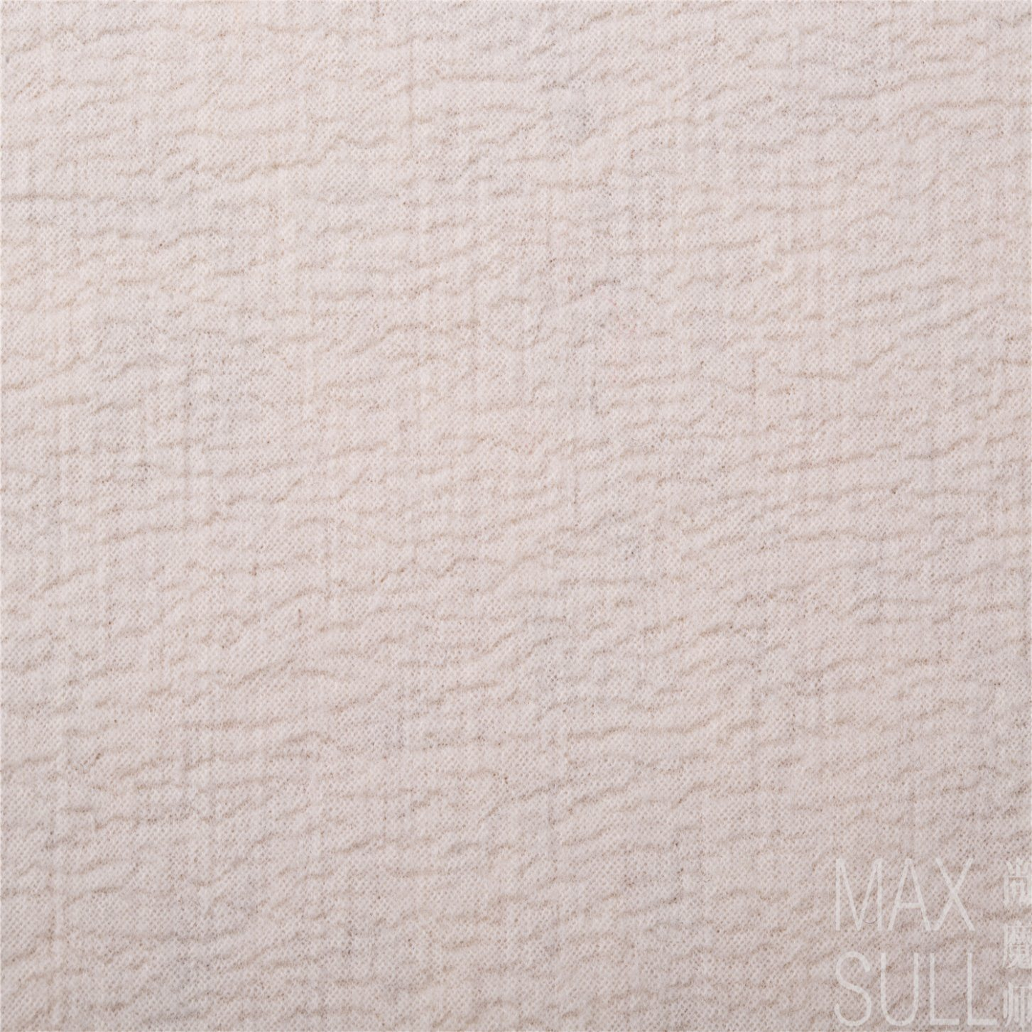 100% Machine Wash Wool Fabric for Autumn in White