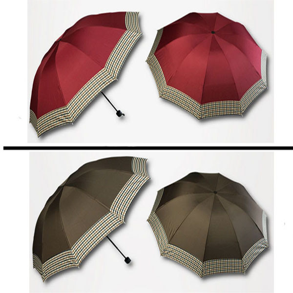 "42"" *10k 3 Fold Promotion Sun Umbrella with Different Design Printing"