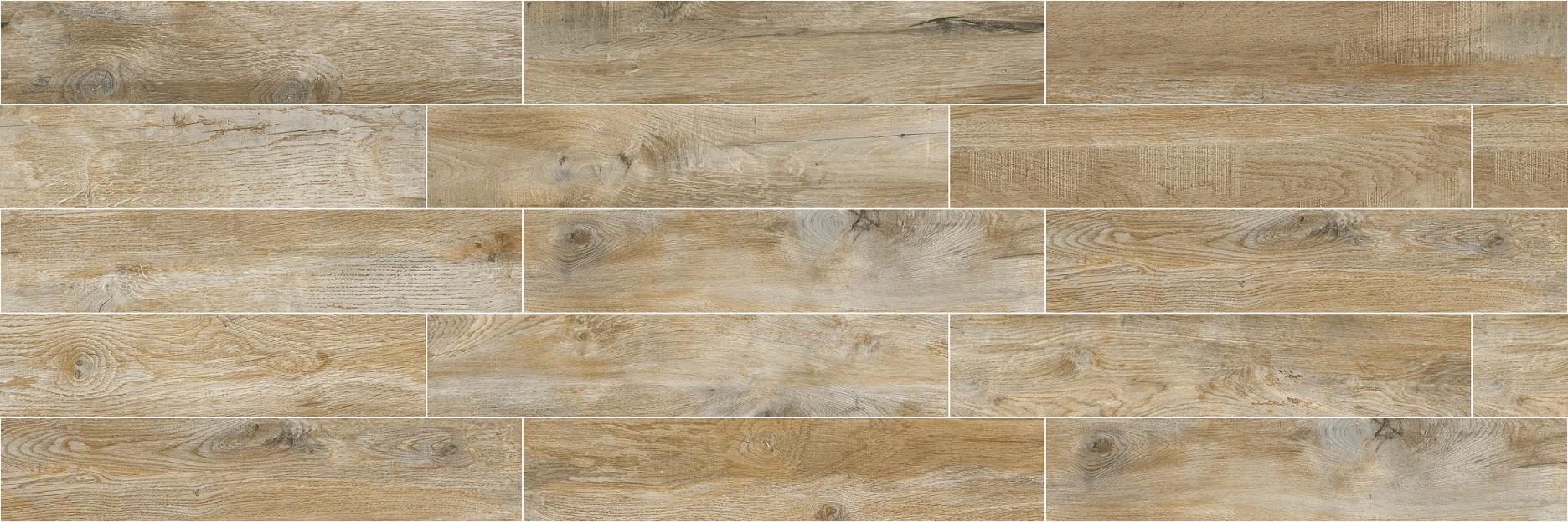 High Quality Building Material Porcelain Wood Tile Floor Tile Lnc2012022 Yellow