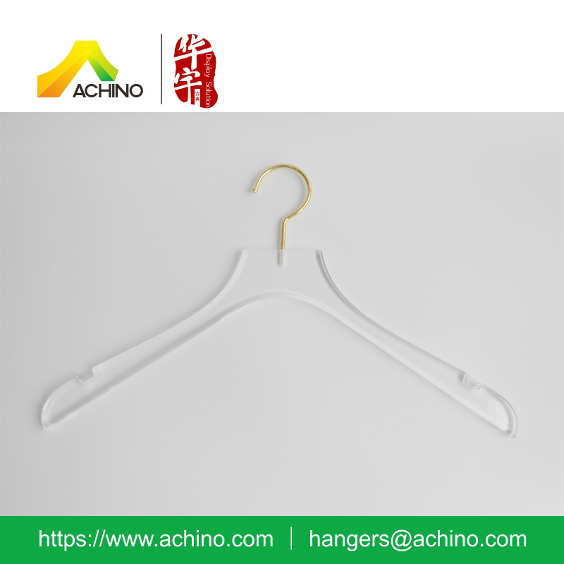 New Elegant Design Acrylic Hanger for Ladies Clothes (ACTH300)