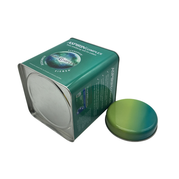 Tea Tin Box Packaging Tin Container Double Lid Factory Directly
