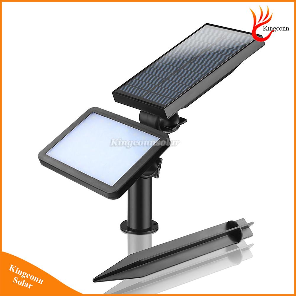 Solar Lawn Light Waterproof 48 LED Powered Outdoor Garden Wall Security Spotlight Lamp