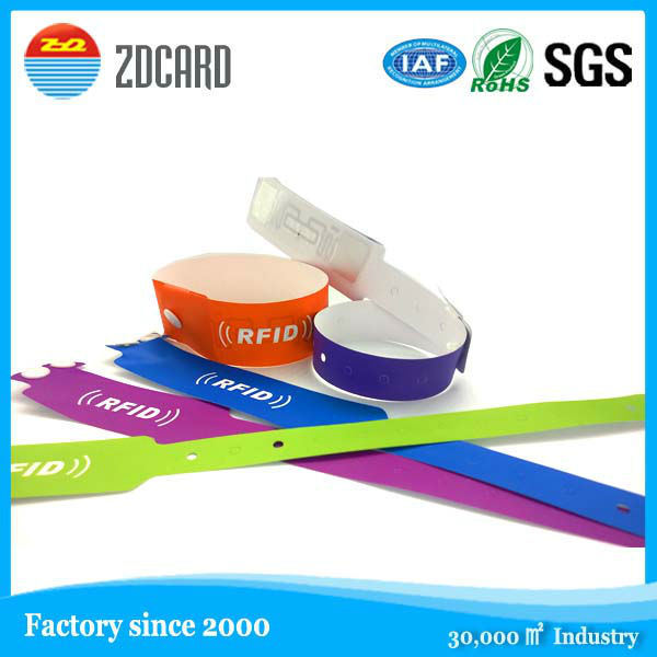 Festival Activity Wristband Made of Tyvek Paper