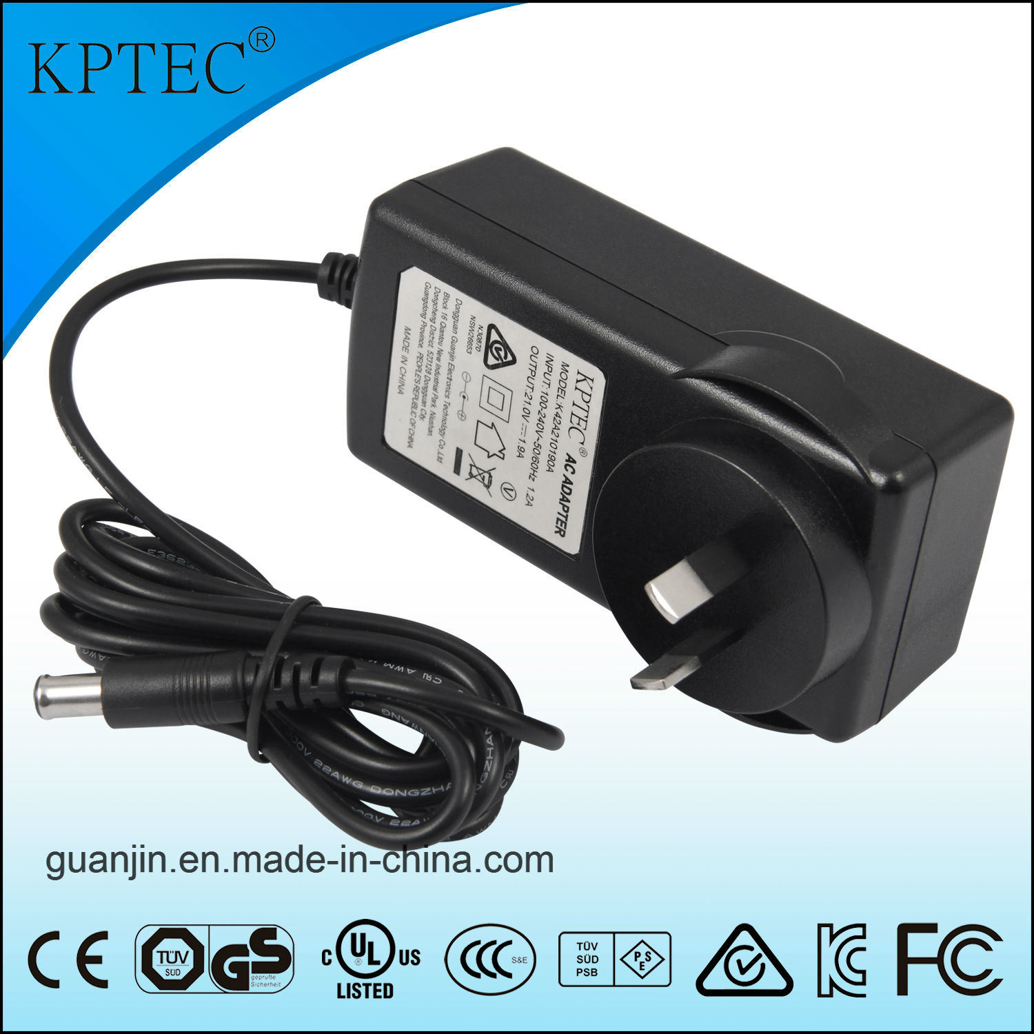 12V 3A Australia Plug Charger with SAA C-Tick Certificate