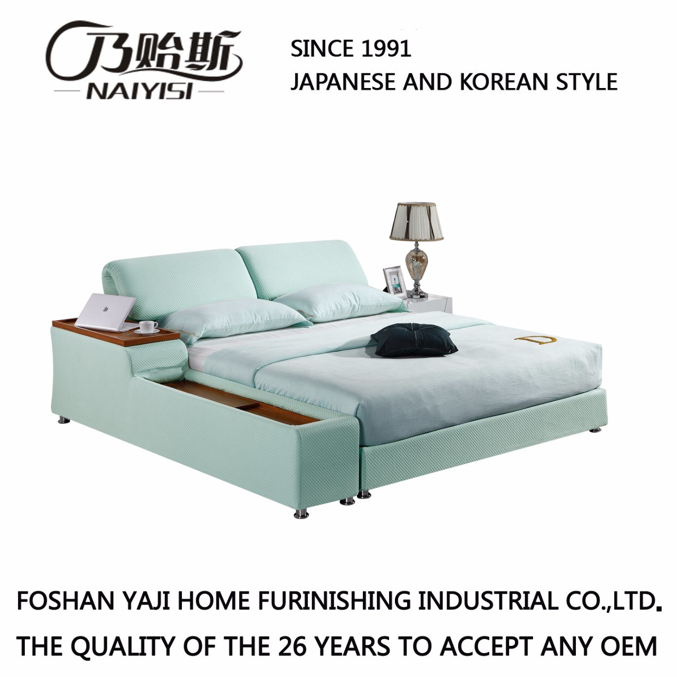China Korea Style Modern Genuine Leather Sofa Bed for Living Room