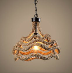 Simple Decorative Pendant Lamp Rope Lampshade for Home & Hotel