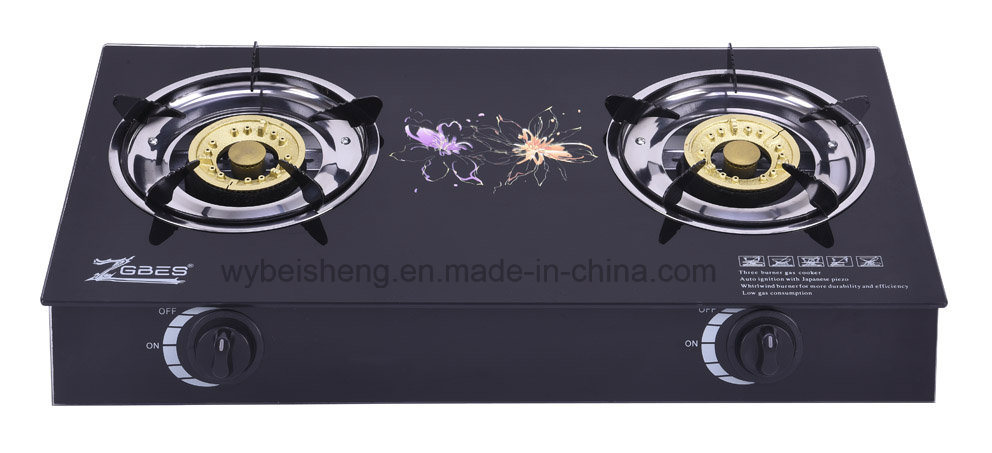 Tempered Glass Three Burners Gas Stove