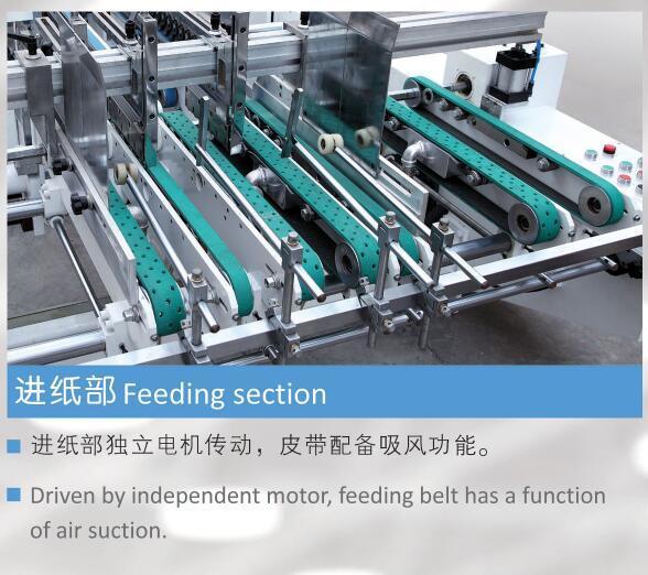 Automatic High Speed 4/6 Corner Box Folding Gluing Machine (GK-1450SLJ)