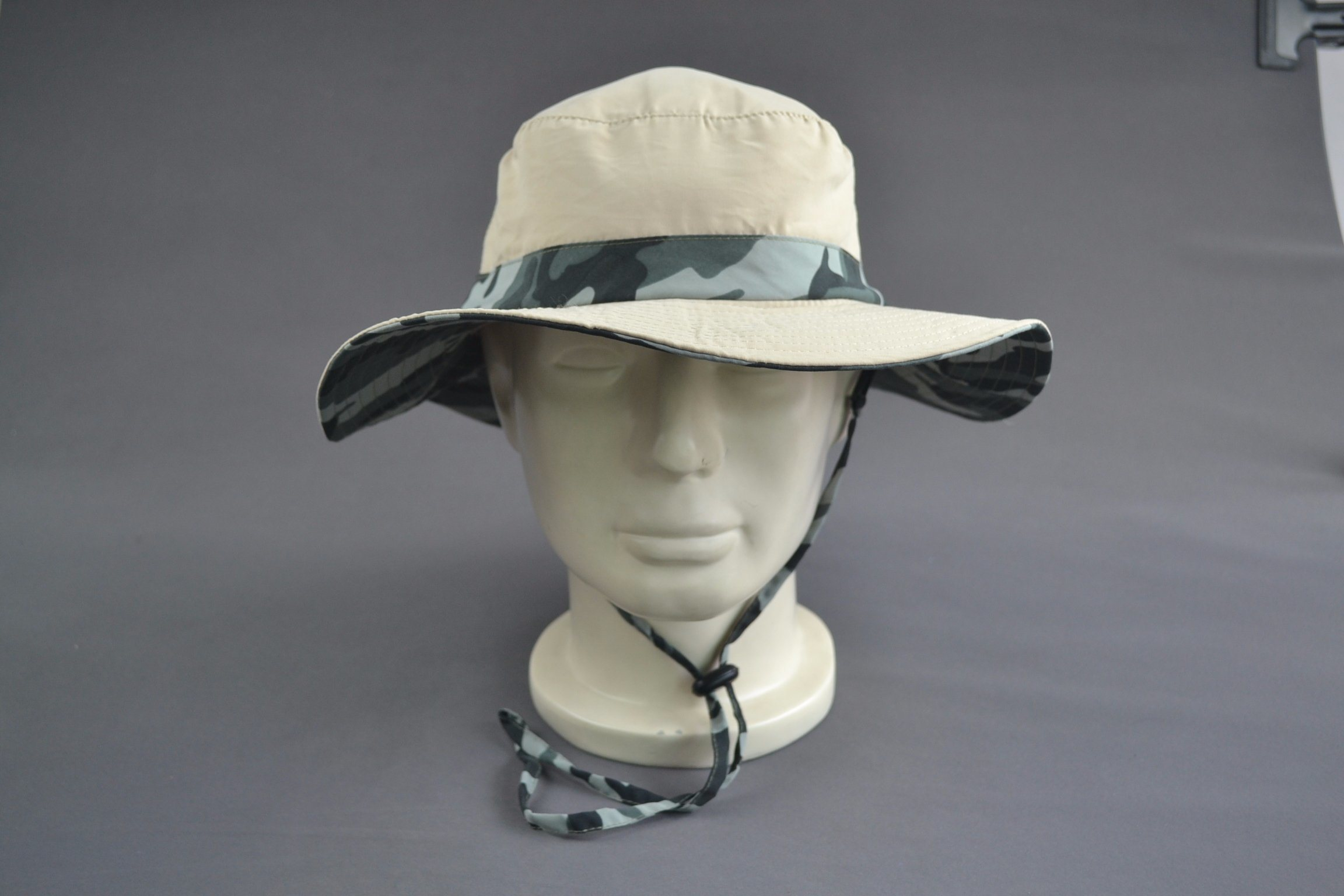 Camo Color 100% Polyester Oudoor Sun Hat