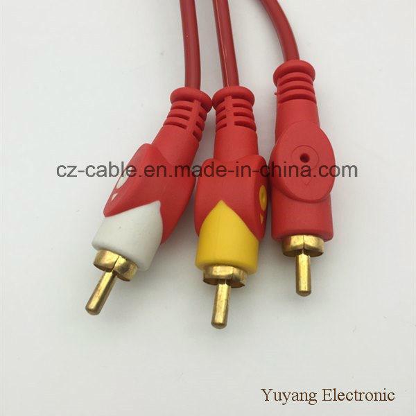 3RCA/3r Plug/Jack to 3RCA/3r Plug/Jack AV/TV/DVD/VCD/Audio/Media Cable (3R-3R)